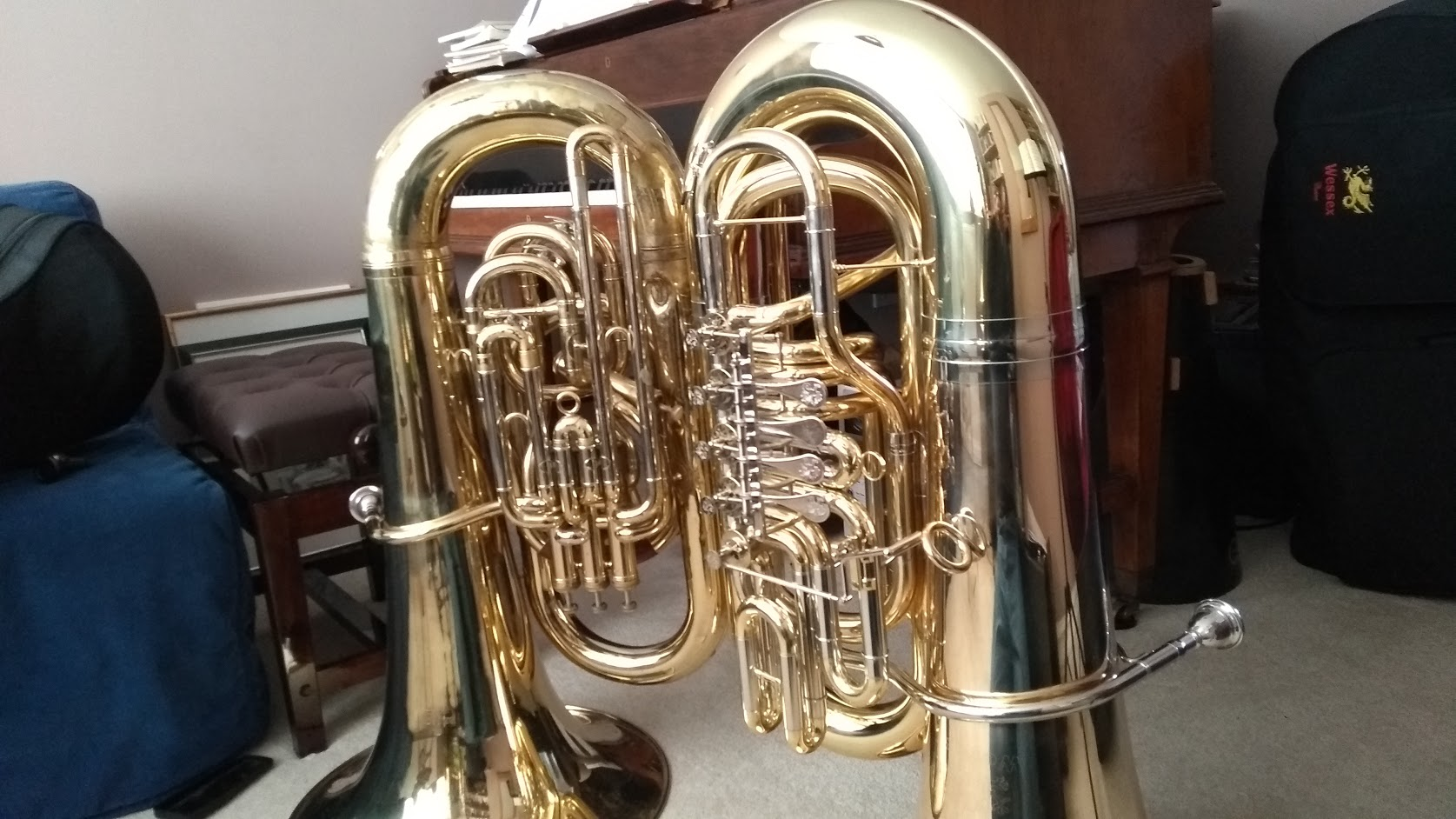 My two tubas.