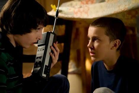 Kids on walkie-talkies